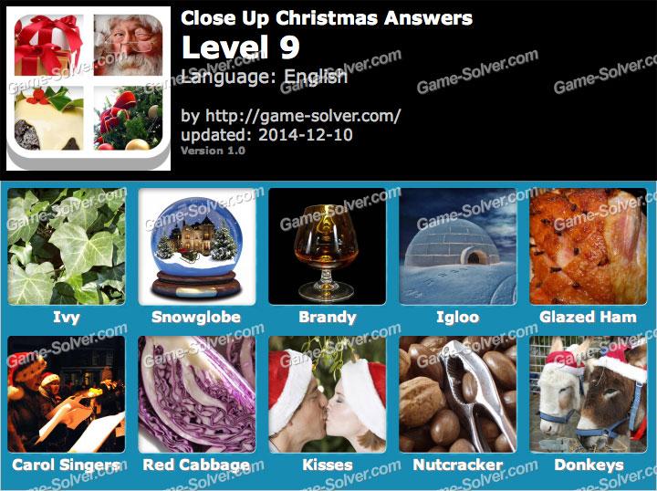Close Up Christmas Level 9 Game Solver