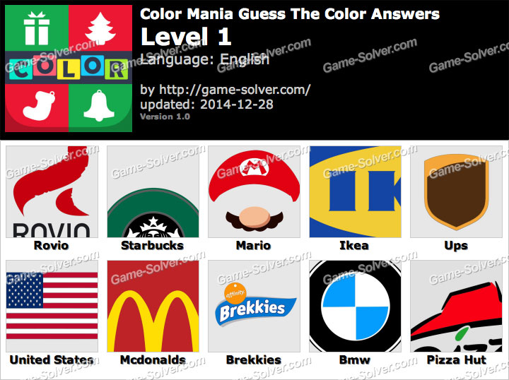 Color Mania Guess The Color Level 1