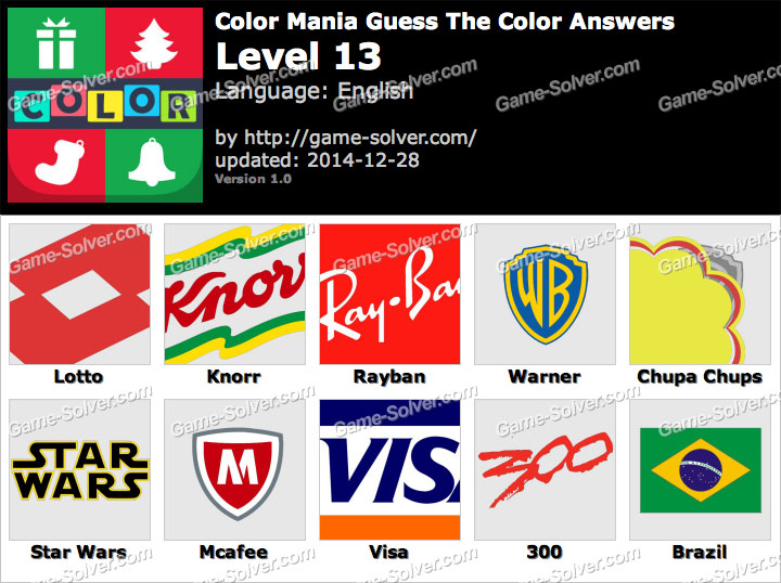 Color Mania Guess The Color Level 13