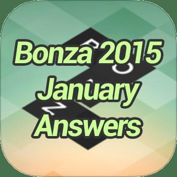 Bonza 2015 January Answers