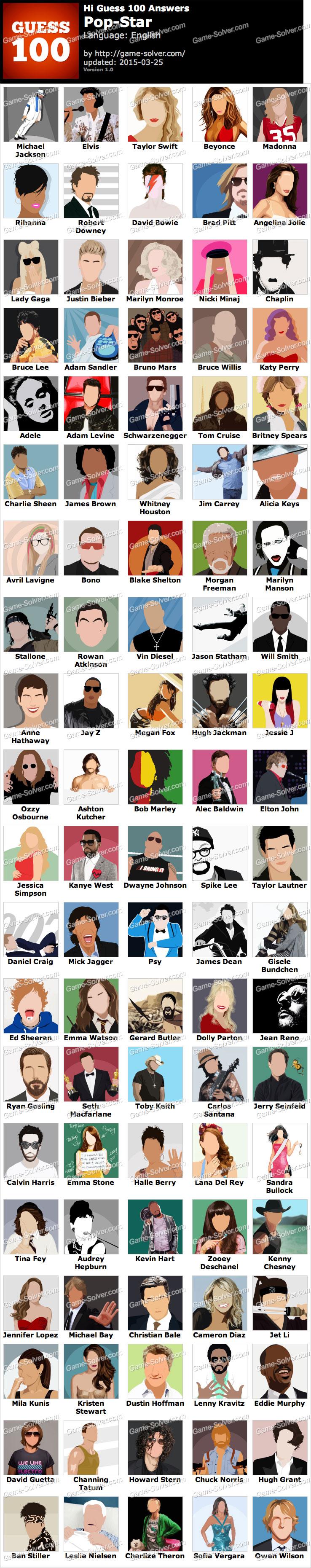 Hi Guess 100 Pop Star
