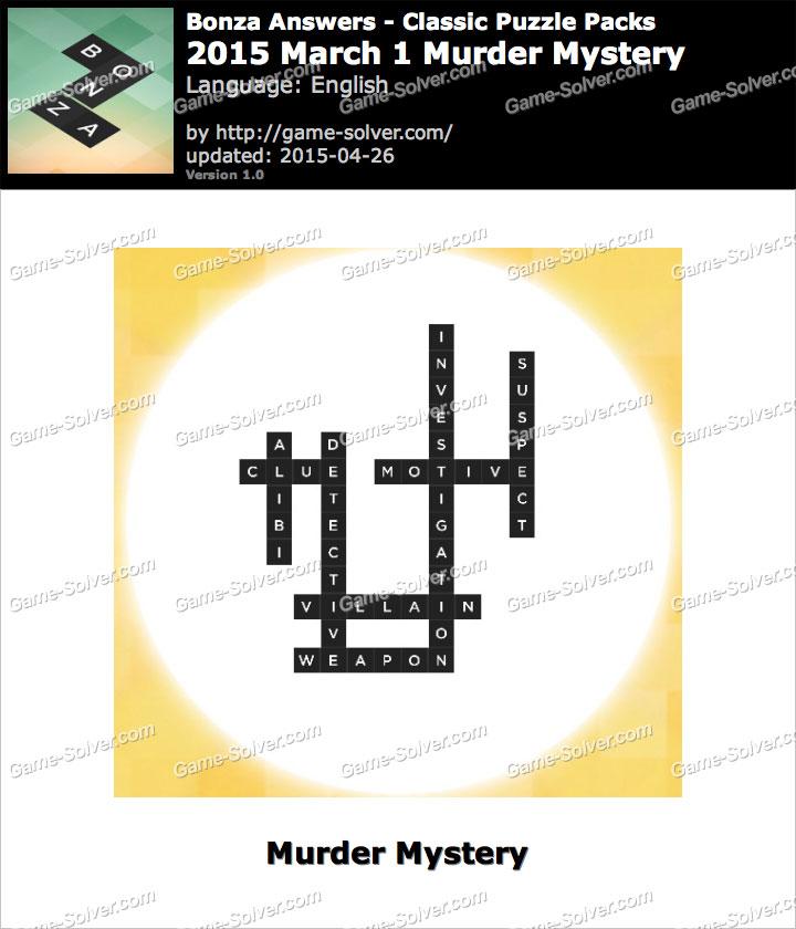 Bonza 2015 March 1 Murder Mystery