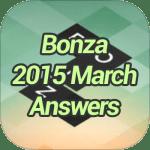 Bonza 2015 March Answers
