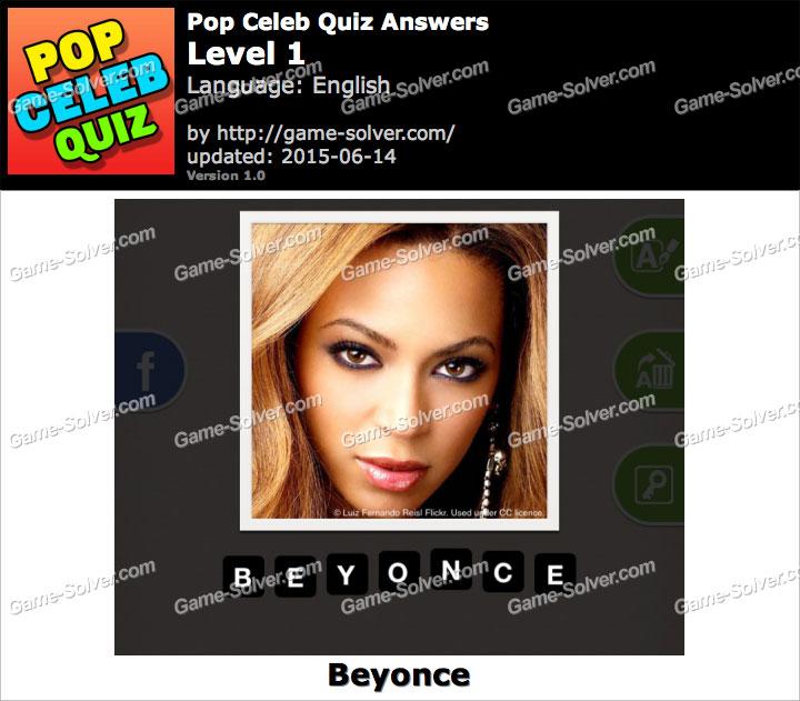 Pop Celeb Quiz Level 1