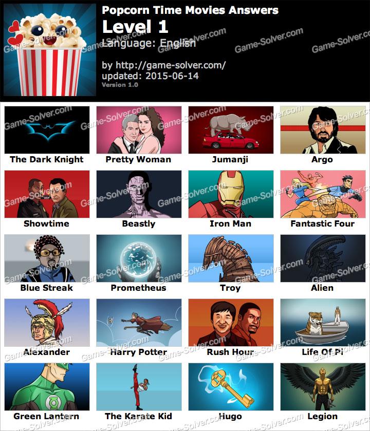 Popcorn Time Movies Level 1