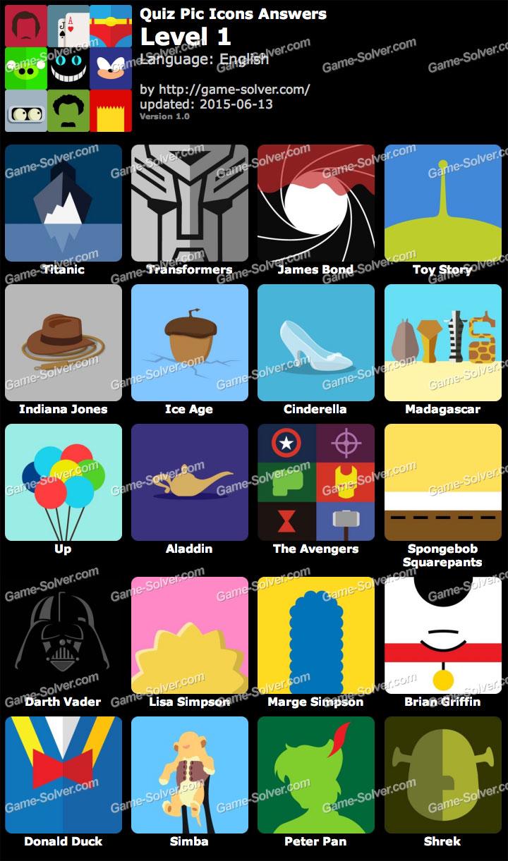 Quiz Pic Icons Level 1