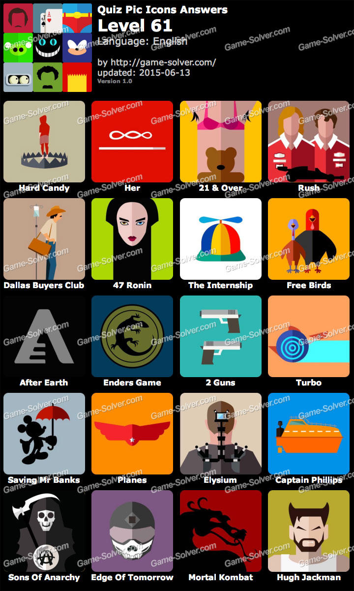Quiz Pic Icons Level 61