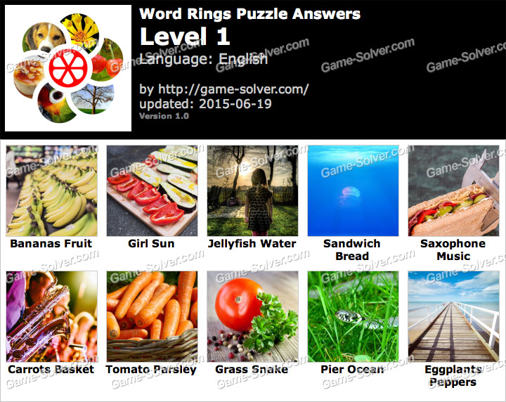 Word Rings Puzzle 1