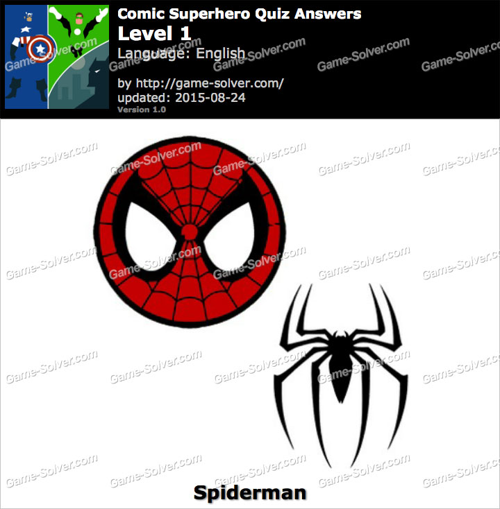 Comic Superhero Quiz Level 1