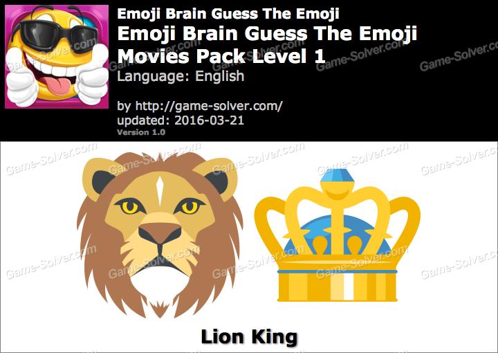 Emoji Brain Guess The Emoji Movies Pack Level 1 Answers