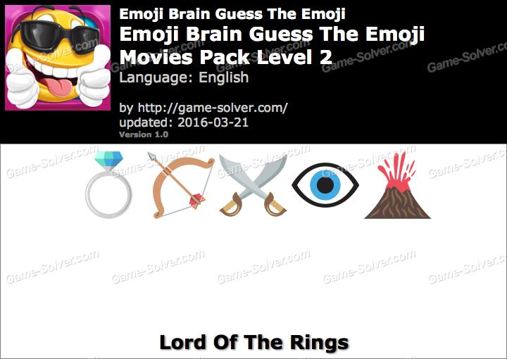 Emoji Brain Guess The Emoji Movies Pack Level 2 Answers
