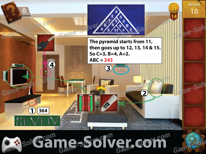 Escape Room: Apartment 11 Level 10 - Game Solver
