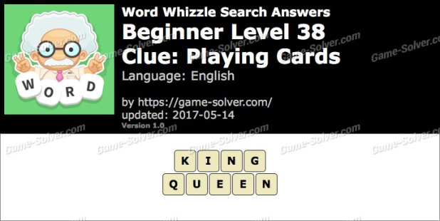 In A Deck Of Cards Word Whizzle Answers Infocards Co