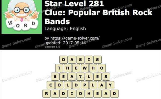 Word Whizzle Search Star Level 281 Answers Game Solver