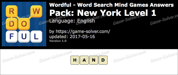 Wordful New York Level 1 Answers