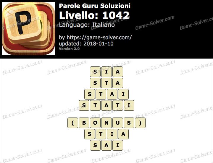 Parole Guru Livello 1042 Soluzioni