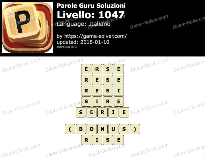 Parole Guru Livello 1047 Soluzioni