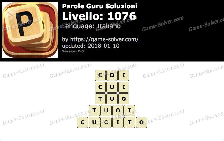 Parole Guru Livello 1076 Soluzioni