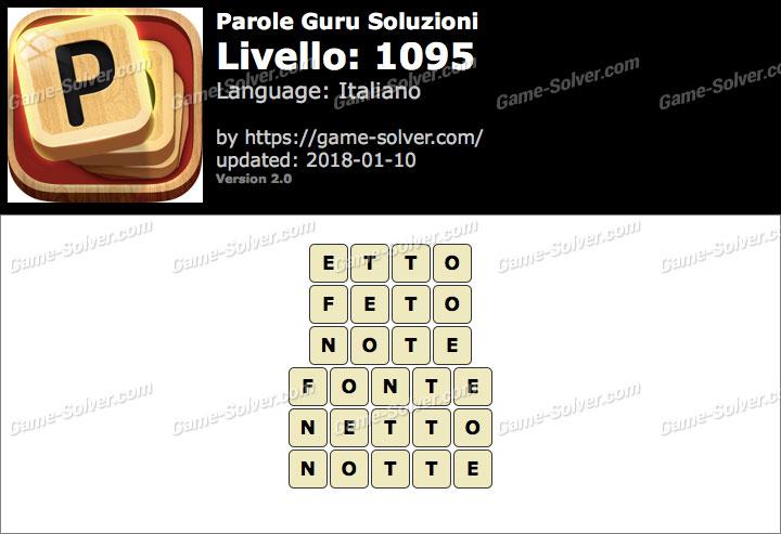 Parole Guru Livello 1095 Soluzioni