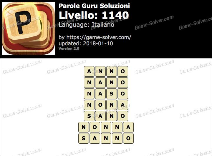Parole Guru Livello 1140 Soluzioni
