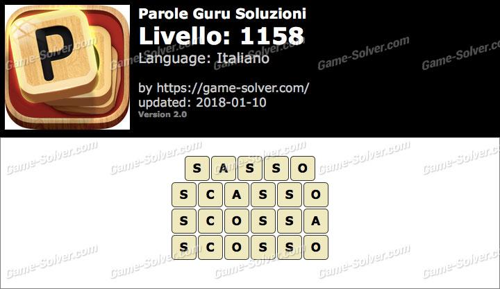 Parole Guru Livello 1158 Soluzioni
