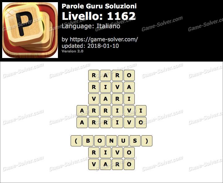 Parole Guru Livello 1162 Soluzioni