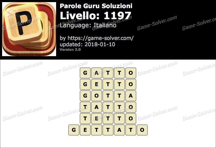 Parole Guru Livello 1197 Soluzioni