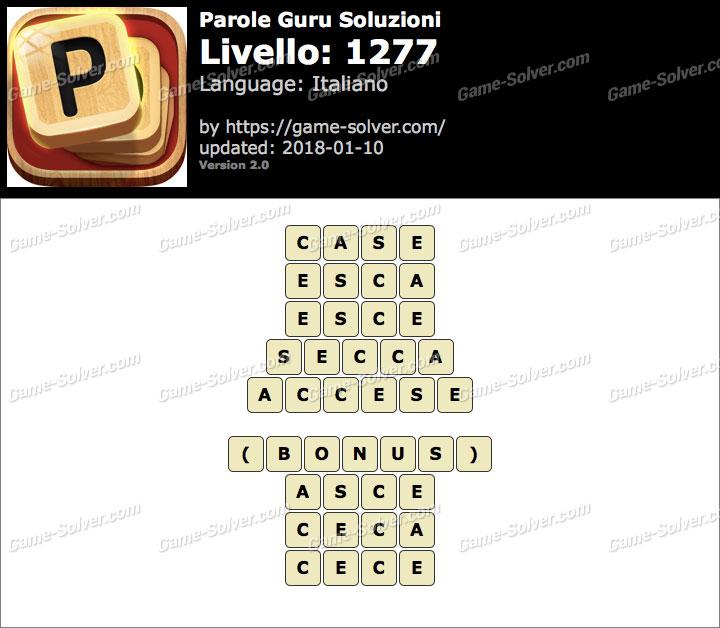 Parole Guru Livello 1277 Soluzioni