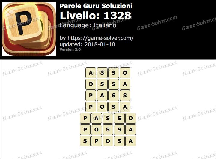 Parole Guru Livello 1328 Soluzioni