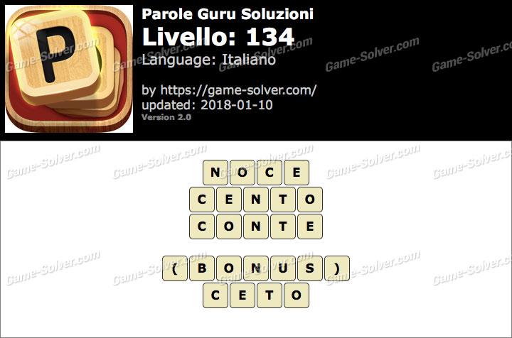Parole Guru Livello 134 Soluzioni