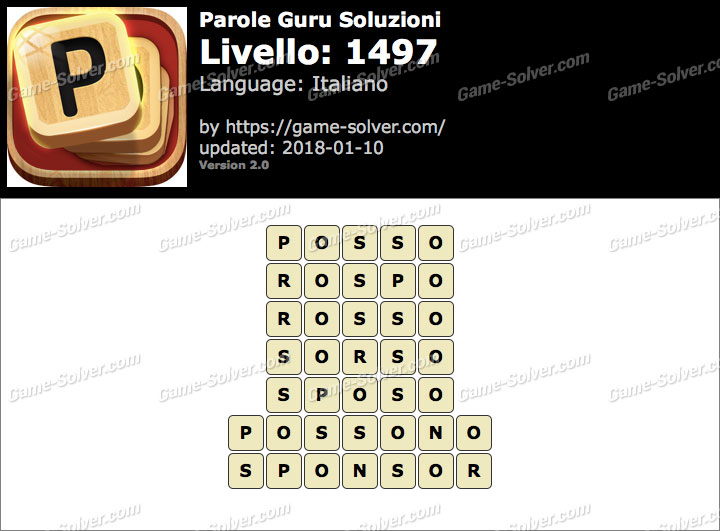 Parole Guru Livello 1497 Soluzioni