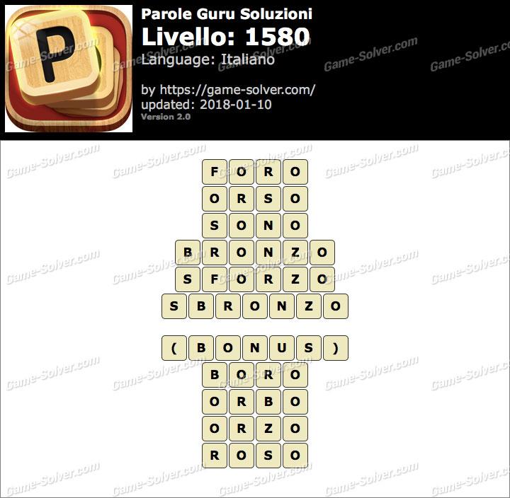Parole Guru Livello 1580 Soluzioni