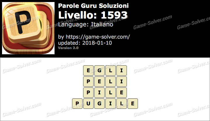 Parole Guru Livello 1593 Soluzioni