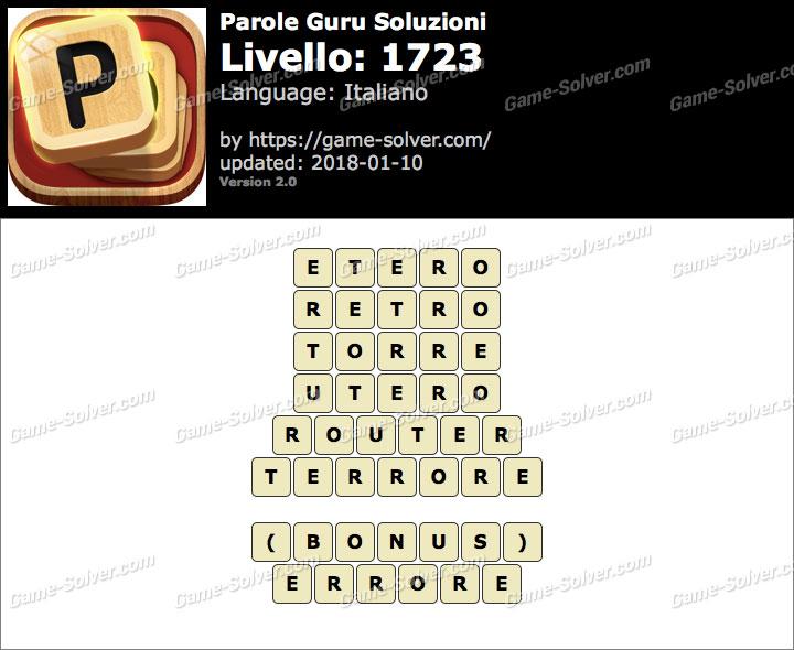 Parole Guru Livello 1723 Soluzioni