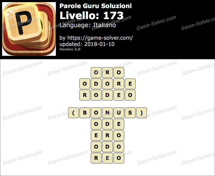 Parole Guru Livello 173 Soluzioni