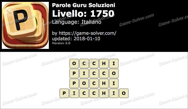 Parole Guru Livello 1750 Soluzioni