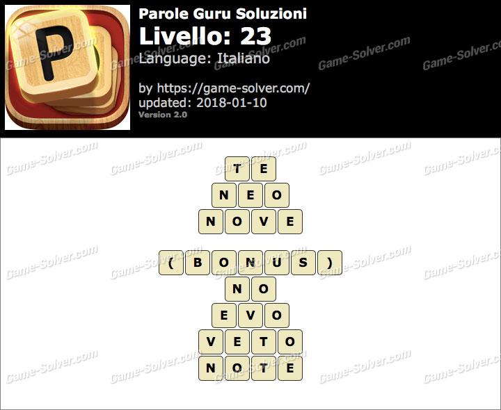 Parole Guru Livello 23 Soluzioni