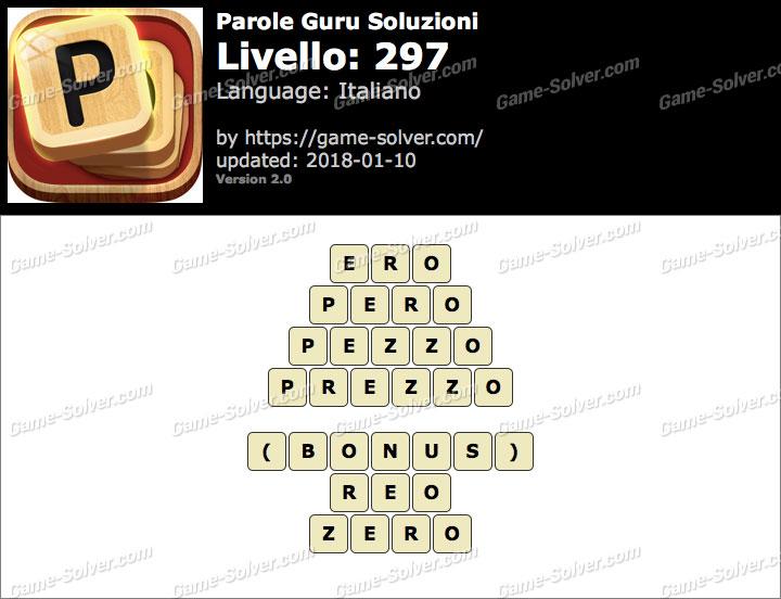 Parole Guru Livello 297 Soluzioni