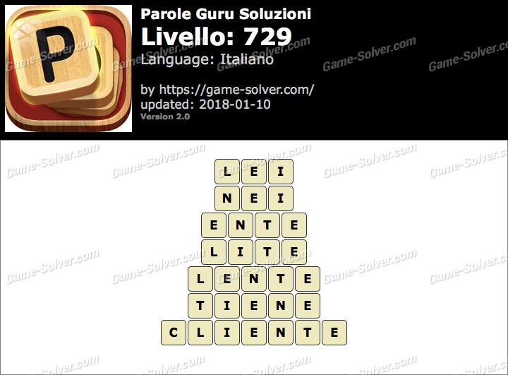 Parole Guru Livello 729 Soluzioni
