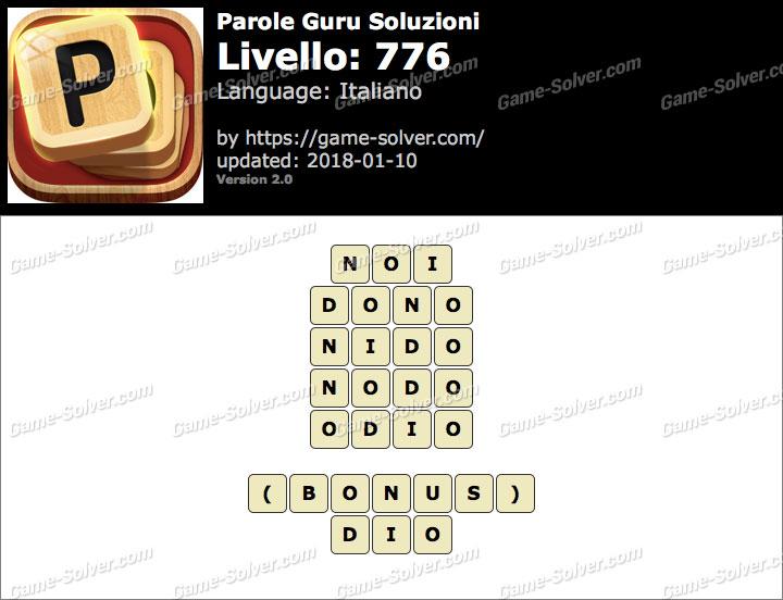 Parole Guru Livello 776 Soluzioni