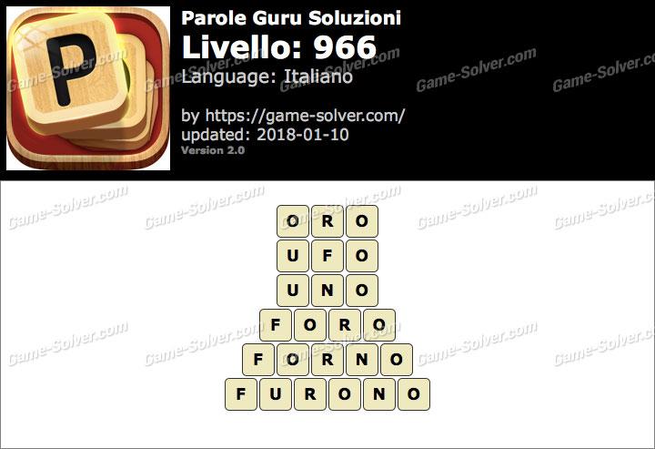Parole Guru Livello 966 Soluzioni