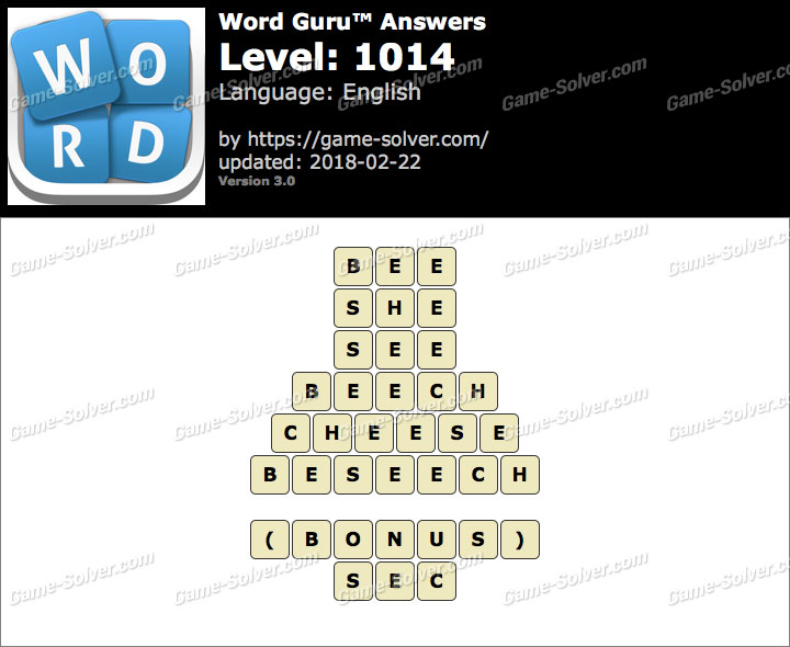 Word Guru Level 1014 Answers