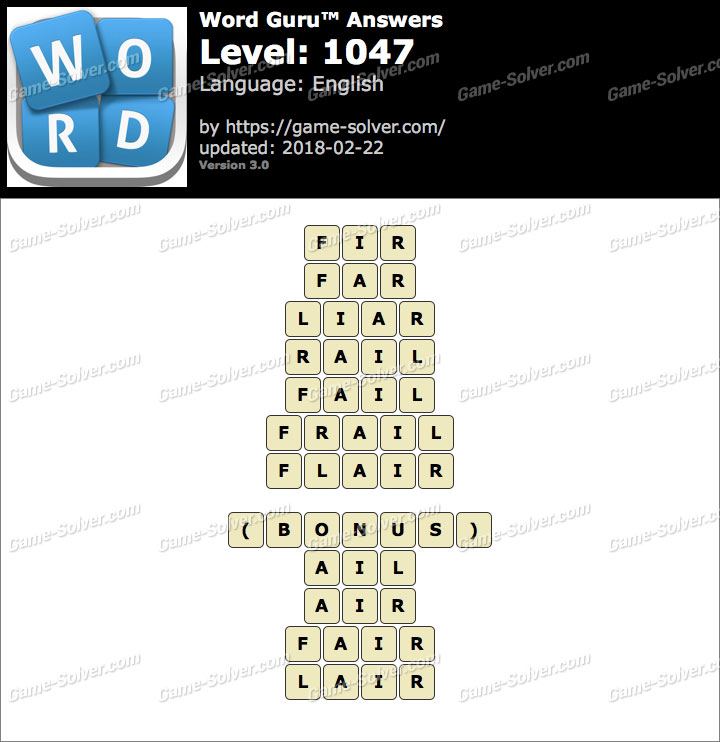 Word Guru Level 1047 Answers