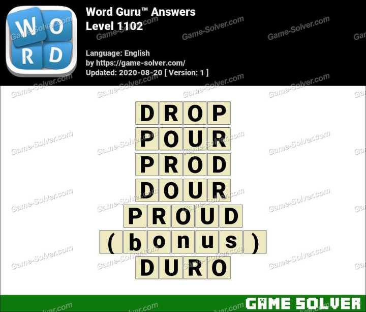 Word Guru Level 1102 Answers