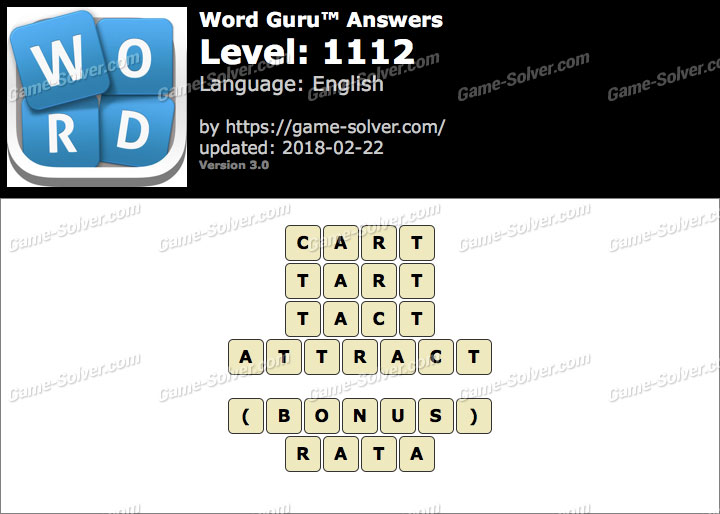 Word Guru Level 1112 Answers