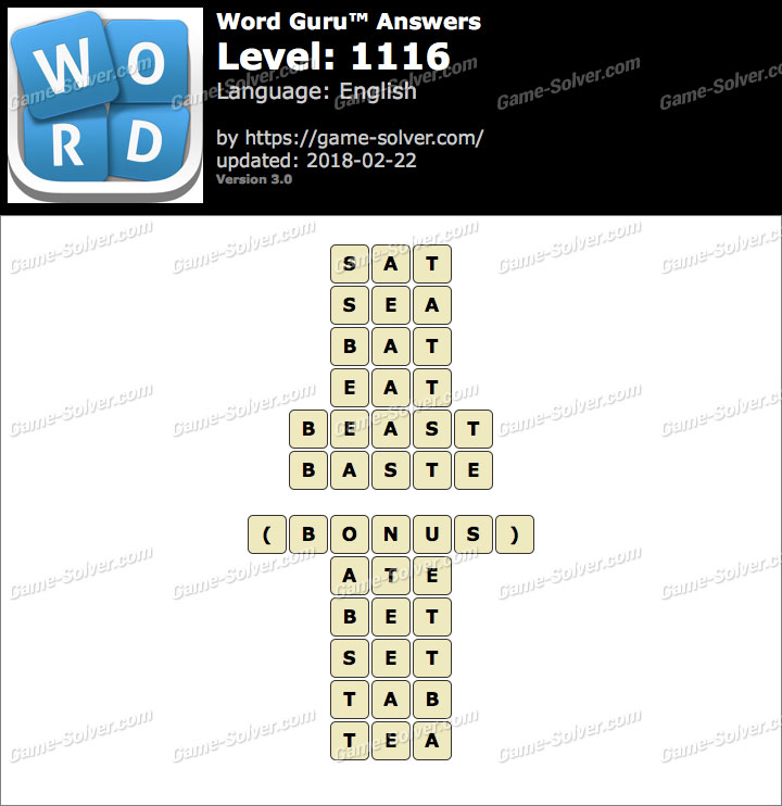 Word Guru Level 1116 Answers