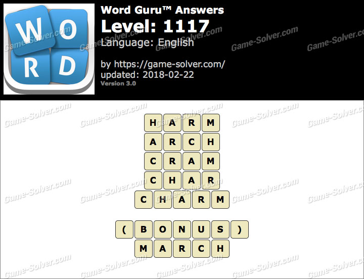 Word Guru Level 1117 Answers