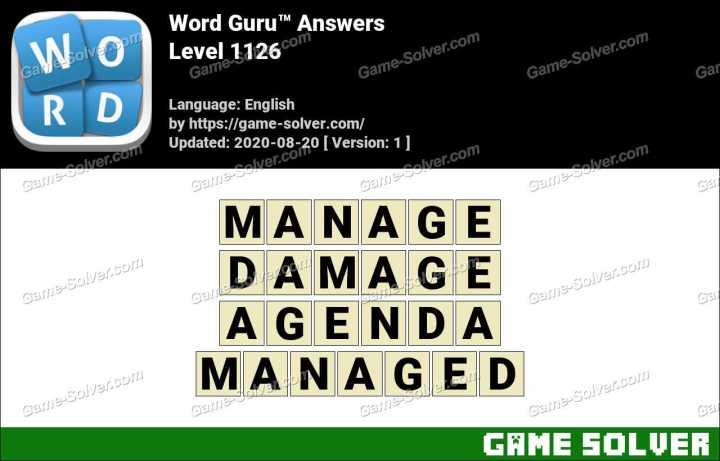 Word Guru Level 1126 Answers