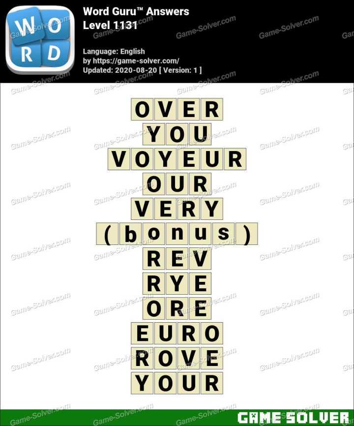 Word Guru Level 1131 Answers