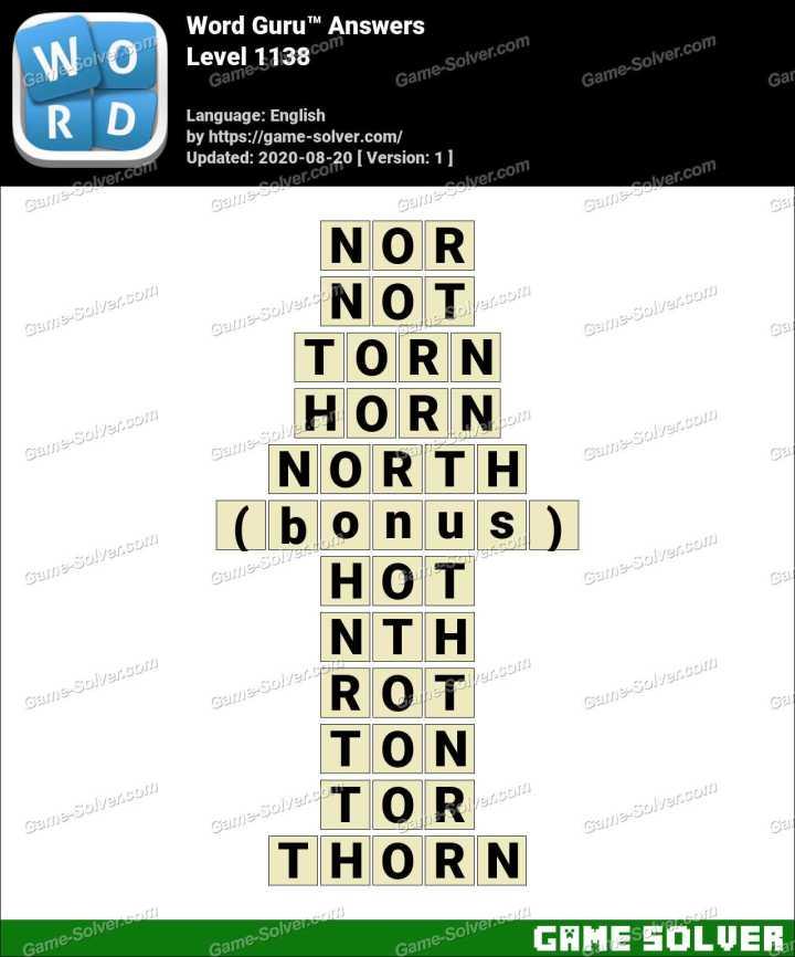 Word Guru Level 1138 Answers